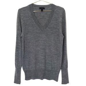 J Crew Merino Wool V Neck Sweater Long Sleeve